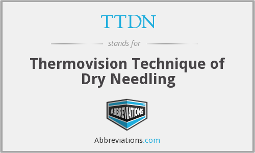 TTDN - Thermovision Technique of Dry Needling
