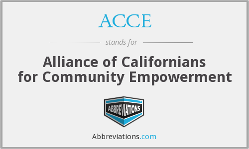 ACCE - Alliance of Californians for Community Empowerment