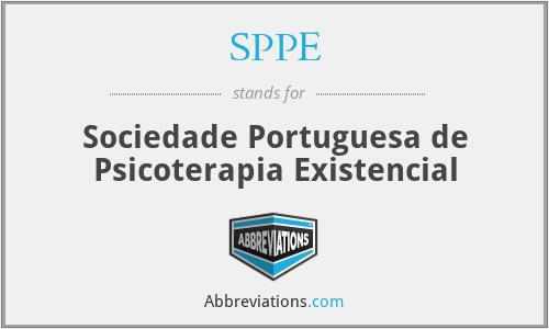 SPPE - Sociedade Portuguesa de Psicoterapia Existencial