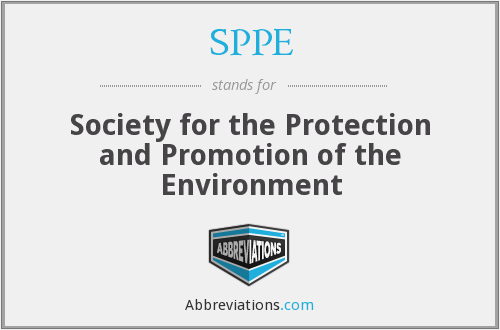 SPPE - Society for the Protection and Promotion of the Environment