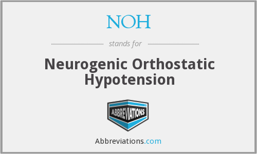 NOH - Neurogenic Orthostatic Hypotension