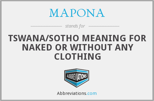 What does MAPONA stand for?