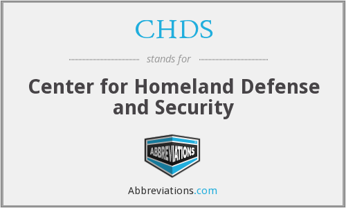 CHDS - Center for Homeland Defense and Security