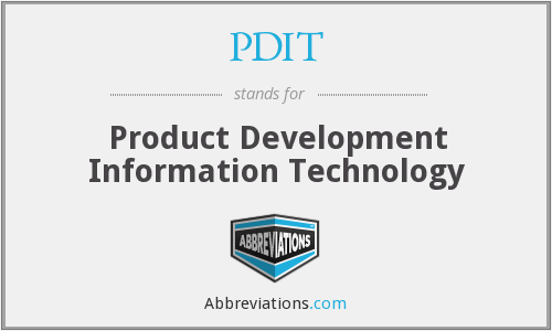 PDIT - Product Development Information Technology