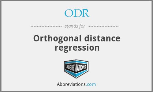 ODR - Orthogonal distance regression
