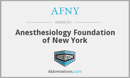 What does AFNY stand for?