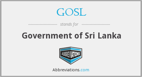 What does GOSL stand for?