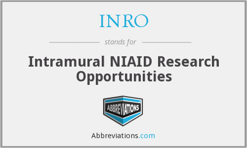 INRO - Intramural NIAID Research Opportunities