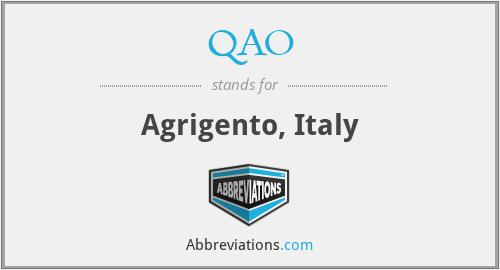 QAO - Agrigento, Italy