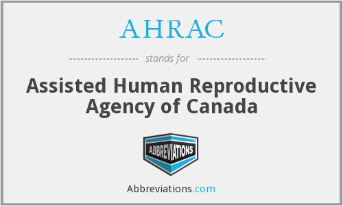 What does AHRAC stand for?