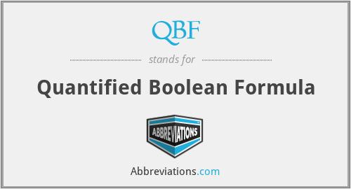QBF - Quantified Boolean Formula