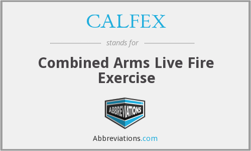 What does CALFEX stand for?