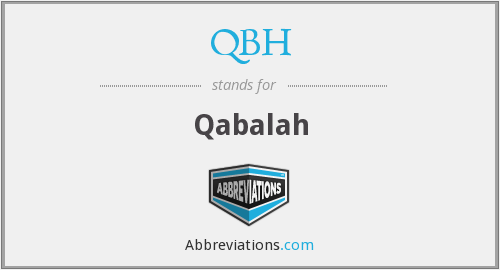 What does qabalah stand for?
