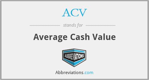 ACV - Average Cash Value