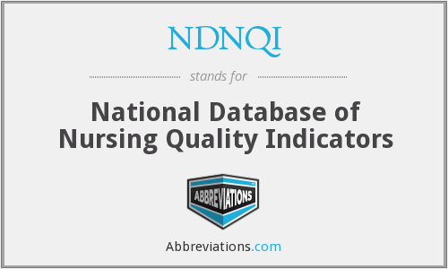 What does NDNQI stand for?