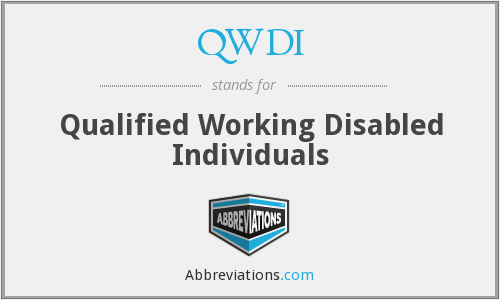 What does QWDI stand for?