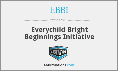 What does EBBI stand for?