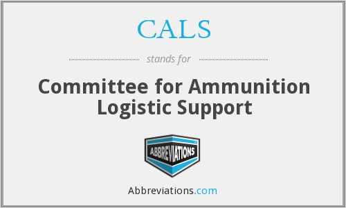 CALS - Committee for Ammunition Logistic Support