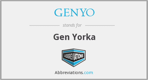 What does GENYO stand for?