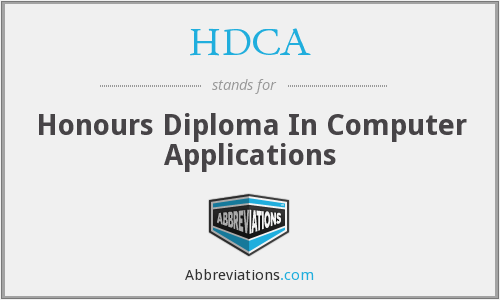 HDCA - Honours Diploma In Computer Applications