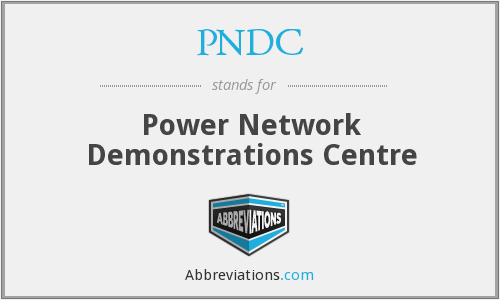 PNDC - Power Network Demonstrations Centre