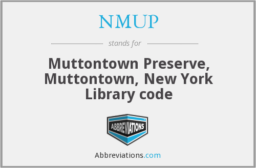 What does NMUP stand for?