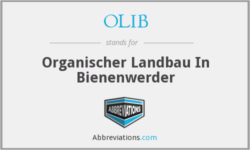 What does OLIB stand for?