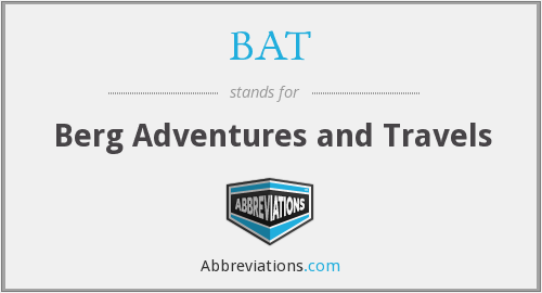 BAT - Berg Adventures and Travels