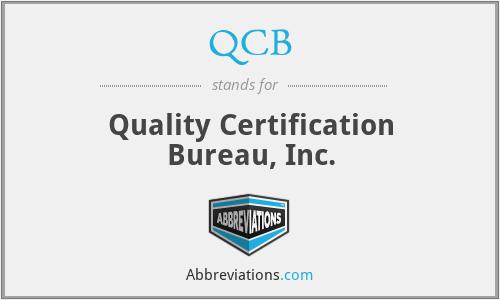 QCB - Quality Certification Bureau, Inc.