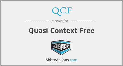 QCF - Quasi Context Free