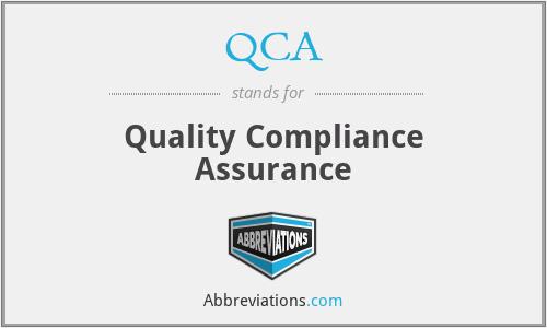 QCA - Quality Compliance Assurance