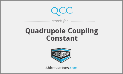 QCC - Quadrupole Coupling Constant