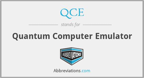 QCE - Quantum Computer Emulator