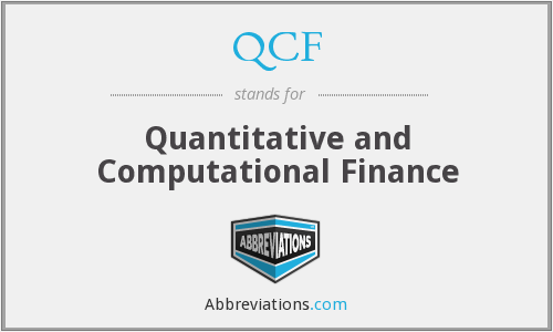 QCF - Quantitative and Computational Finance