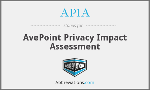 APIA - AvePoint Privacy Impact Assessment