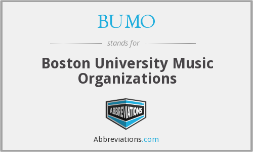 What does BUMO stand for?