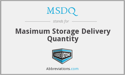 What does MSDQ stand for?