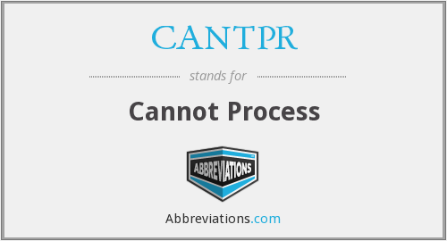 What does CANTPR stand for?