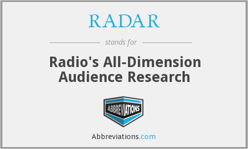 RADAR - Radio's All-Dimension Audience Research