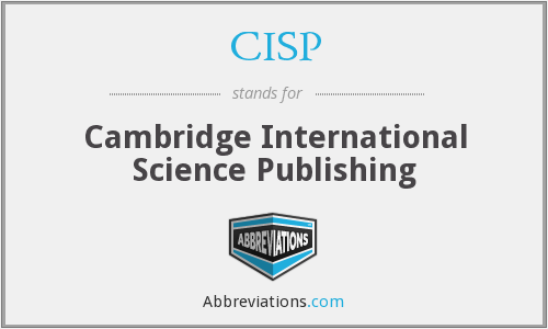CISP - Cambridge International Science Publishing