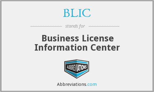 BLIC - Business License Information Center