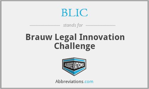 BLIC - Brauw Legal Innovation Challenge