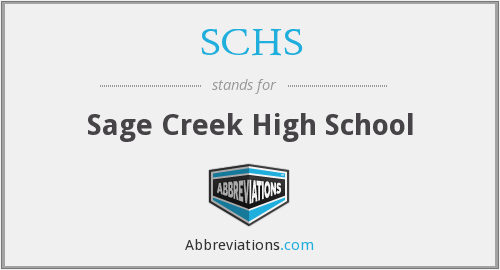 What does SCHS stand for?