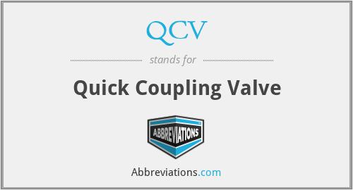 QCV - Quick Coupling Valve