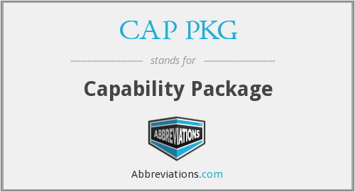 What does CAP PKG stand for?