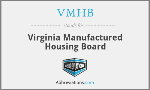 VMHB - Virginia Manufactured Housing Board