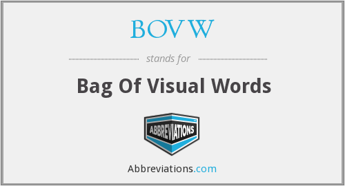 What does BOVW stand for?