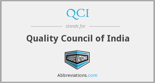 QCI - Quality Council of India