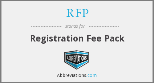What does RFP stand for? — Page #2