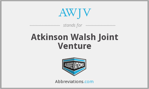What does AWJV stand for?